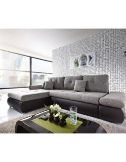 Ecksofa grau schwarz  Couch :: StyleTrieb